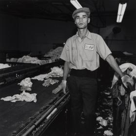 Man in Front of a Conveyor Belt