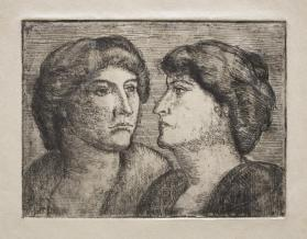 Heads of Two Women