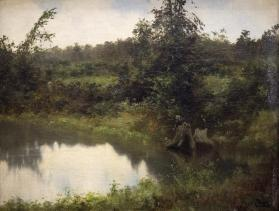 Landscape with Boy Fishing