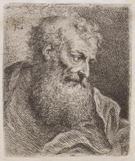 Bearded Man Looking Left