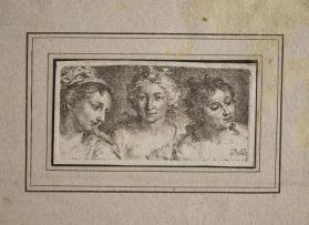 Bust View of Three Women