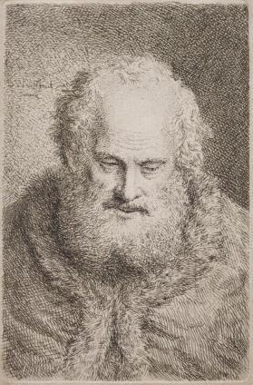 Bearded Man with Downcast Eyes