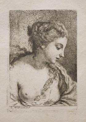 Woman With Exposed Breast Looking to the Left