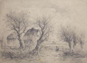 Two Cottages Among Trees