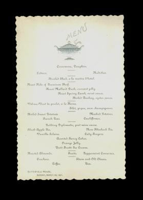 Butterfield House Menu
