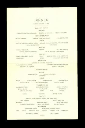 New York City Dinner Menu