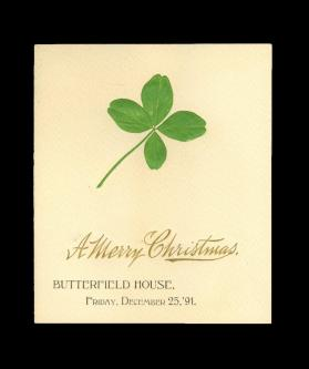 Butterfield House Christmas Menu