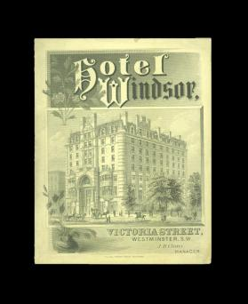 Hotel Windsor Menu