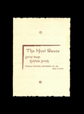 The Hunt Dance/Spring House/Richfield Springs