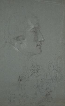 "Two Studies for the ""Death of the Earl of Chatham:"" the Earl of Stanhope, and a Preliminary Study for the Central Group"