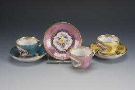 Demitasse Cups and Saucers (Set of Four)