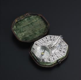 Pocket Sundial and Compass