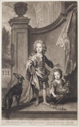 Richard Boyle, 3rd Earl of Burlington and 4th Earl of Cork (1694-1753), and his Sister, Lady Jane Boyle (d. 1780)