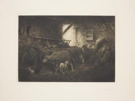 Interieur d'une Bergerie (Sheepfold Interior)