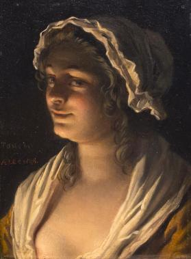 A Young Woman in Candlelight