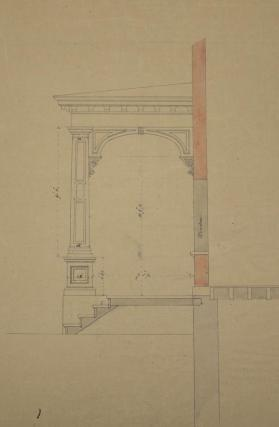 Elevation of the Porch