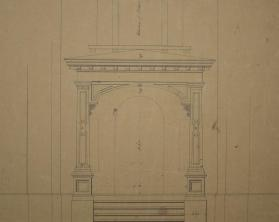 Elevation of the Front View of the Porch