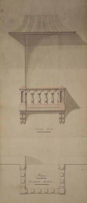 Plan of the Front of a Window