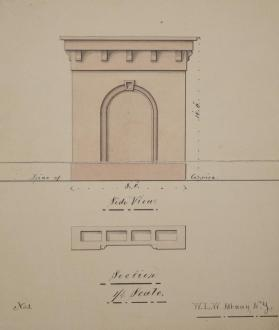 Elevation of Side View of Chimney