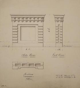 Elevation of Side and End View of Chimney