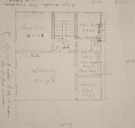 Floor Plan for the Wood, Laundry and Dog's Room