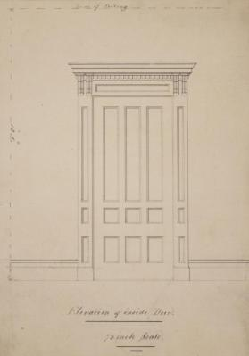 Elevation of Inside Door