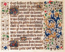 Book of Hours Text Page