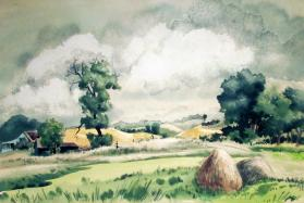 Summer Landscape (Green Fields)