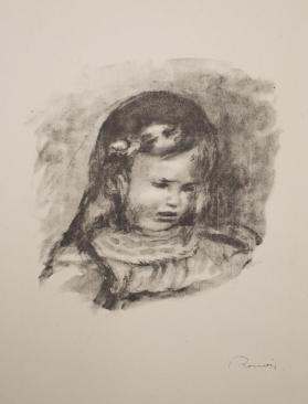 Claude Renoir, la tête baisée (Claude Renoir, head lowered), from Douze lithographies originales de Pierre-Auguste Renoir