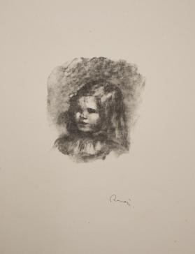 Claude Renoir, tourne à gauche (Claude Renoir, turned to the left), from Douze lithographies originales de Pierre-Auguste Renoir