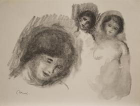 La Pierre aux trois croquis (The stone with three sketches), from Douze lithographies originales de Pierre-Auguste Renoir