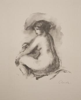 Étude de femme nue assise (Study of a seated nude woman), from Douze lithographies originales de Pierre-Auguste Renoir