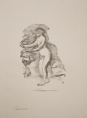 Femme aux cep de vigne (Woman with a vine), from Douze lithographies originales de Pierre-Auguste Renoir