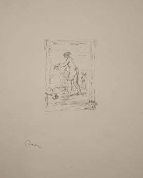 Femme aux cep de vigne, deuxième variante (Woman with a vine, second variant), from Douze lithographies originales de Pierre-Auguste Renoir