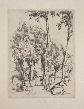Untitled (Cows and Trees)