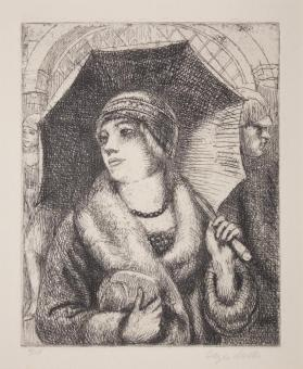 Woman Under an Umbrella