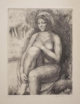 Female Nude by Stream