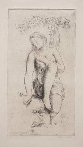 Female Nude and Tree