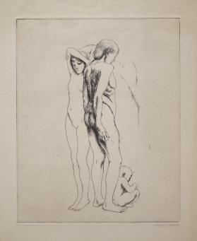 Two Women and Child