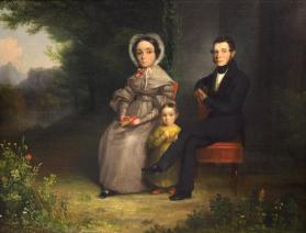Portrait of Mr. and Mrs. Henry D. Wallace and their Daughter