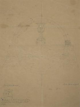 Plan for the Alteration of the Basin of the Fountain at Fountain Elms, New York
