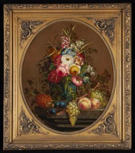 Flowers and Fruit Still Life