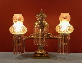 Pair of Argand Lamps