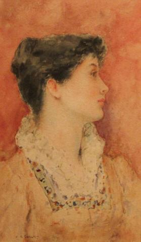 Portrait Profile of a Young Lady