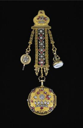 Pair-case Watch and Chatelaine
