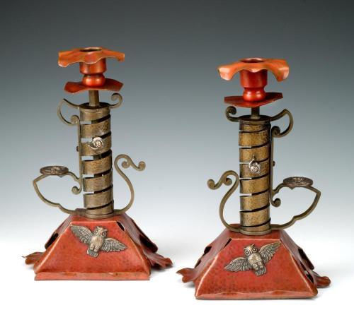 Bradley & Hubbard candlesticks
