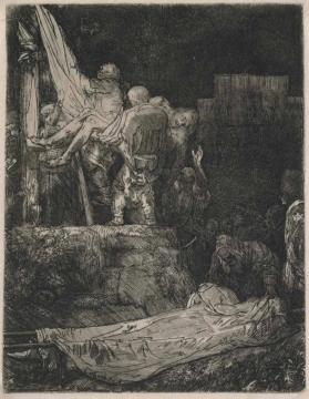 Descent from the Cross by Torchlight