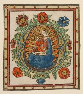 Madonna and Child in Glory (leaf from a prayerbook)