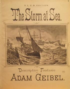 'The Storm at Sea, Fantasie Caprice' By Adam Geibel