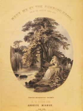 'Meet Me by the Running Brook, or, In the Days of Long Ago' By Auguste Mignon